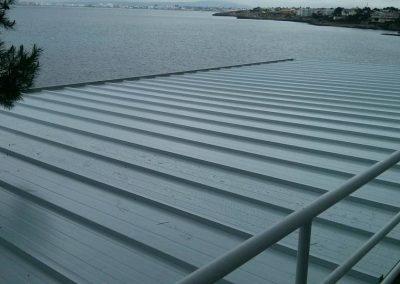Terraza con cubierta